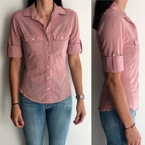 James Perse Classic Button Down Blouse